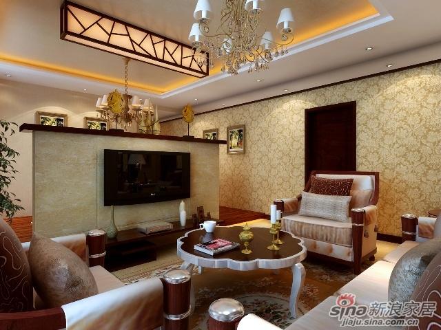 暖色系墙纸做主要装饰,笔直简约的线条同样能勾勒出豪华时尚