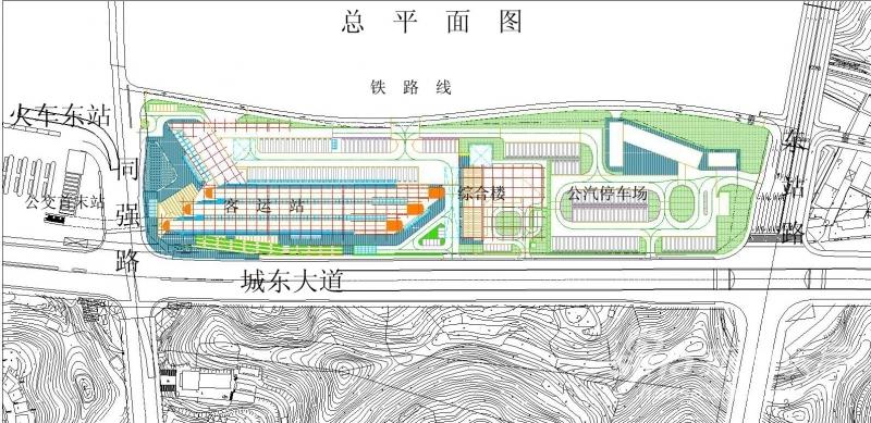 惊艳 强悍的宜昌东站片区 宜昌市交通枢纽中心效果图  (600x292)图片