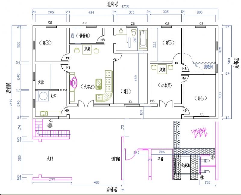 设计图_农村平房设计图大全_平房设计图及效果图 .图片