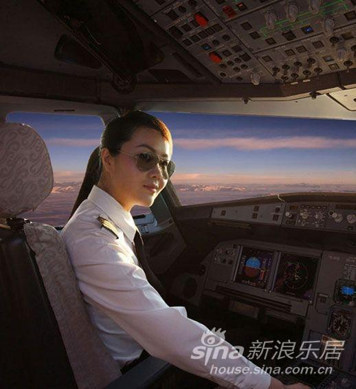 国航最美女机长走红 年仅29岁图