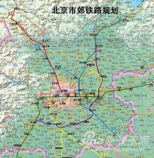 北京地铁s6线最新规划 北京地铁s6号线规划图 北京地铁s6线站点