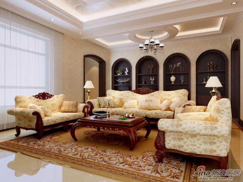 240平米简约别墅 华贵的欧式装修的设计元素别墅装修 新浪乐居论坛