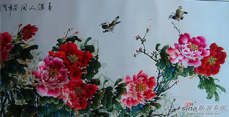 苏绣 手工刺绣 牡丹 60 160图片