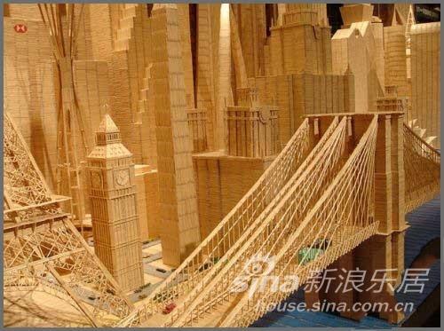 国外艺术家用牙签建房子中建国际港