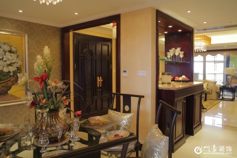 成都室内装修公司 新中式风格装修案例 餐厅实景图-金河谷 新中式装修图片