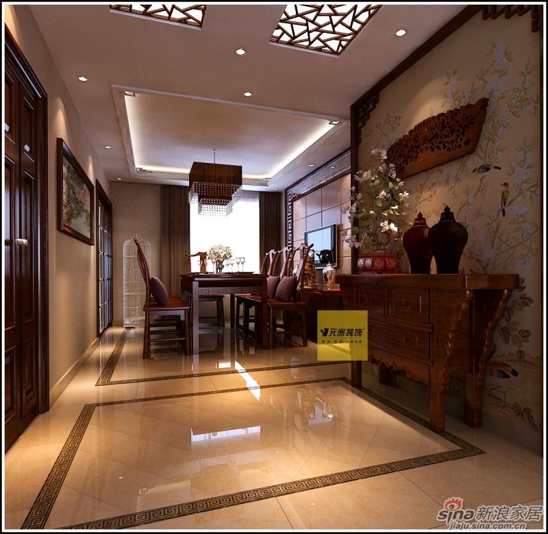 观澳园160平米三室两厅装修设计案例高清图片
