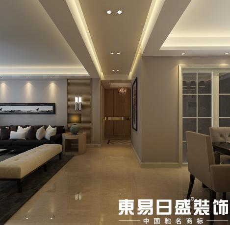 尽可能地调节沙发的刻板印象,配合电视背景墙的线条,来实现室内层次感图片