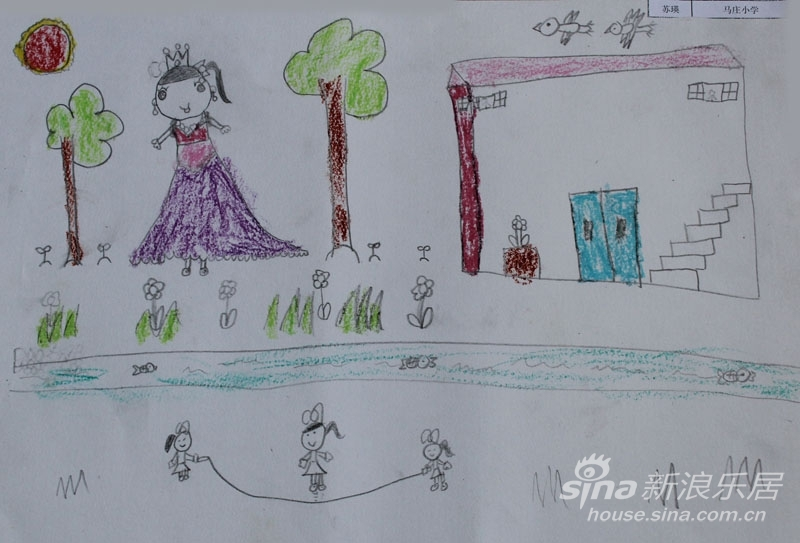 儿童绘画优秀作品儿童文明礼仪绘画作品高楼大厦图片