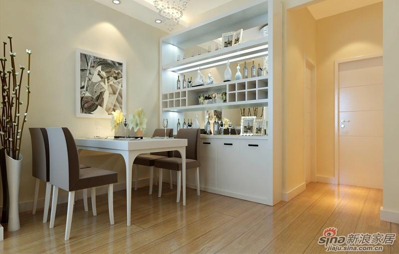 60平一居室老房时尚翻新--餐厅装修效果图-60平一居室老房时尚翻新,高清图片
