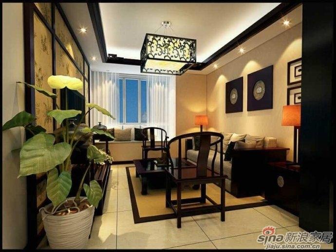 武汉实创装饰 演绎古典中国风 保利心语93平新中式三居室装修设计高清图片