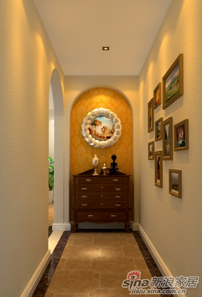 居220平混搭别墅楼梯装修设计效果图-17.6万打造220平富有乡村气