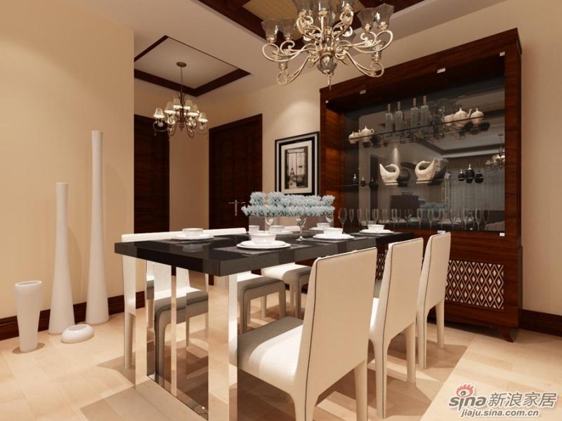 北欧风格入户门厅、餐厅装修设计效果图-金都杭城108平米北欧风格两高清图片