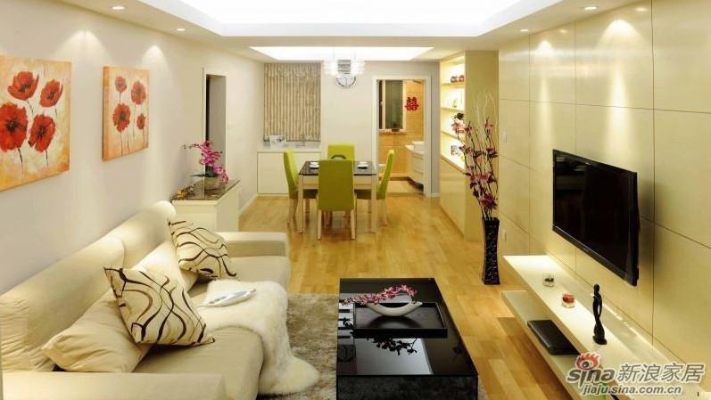 70平两室一厅装修效果图 打造温馨之家高清图片