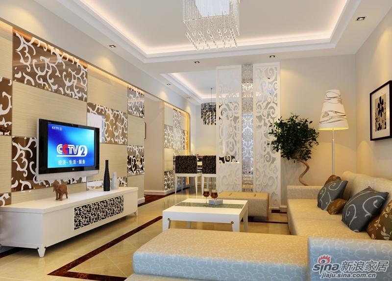 9.3万打造现代简约80平两室一厅,品质生活家高清图片