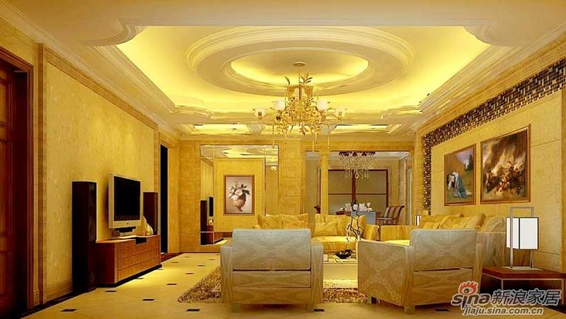 欧美风格室内装�_【龙发装饰】东湖湾220平四居室欧美风格装修案例