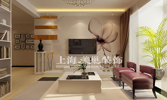 中豪汇景湾80平两室两厅现代简约风格装修效果图高清图片