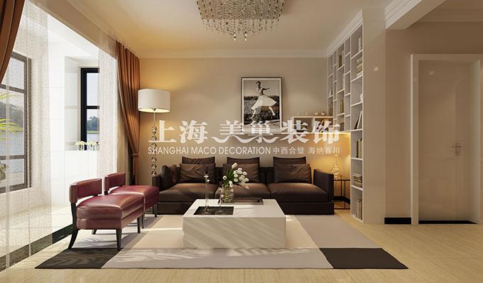 中豪汇景湾80平两室两厅现代简约风格装修效果图