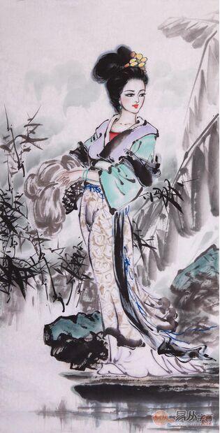 唐代仕女画作品欣赏 欣赏当代作家仕女画图片