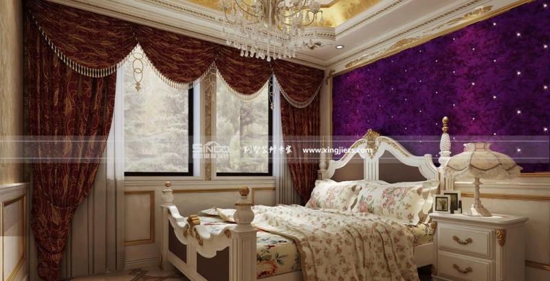 墙芄噬杓铺峁 简约欧式: 金边的布艺床头,有一种置身于欧洲宫廷图片