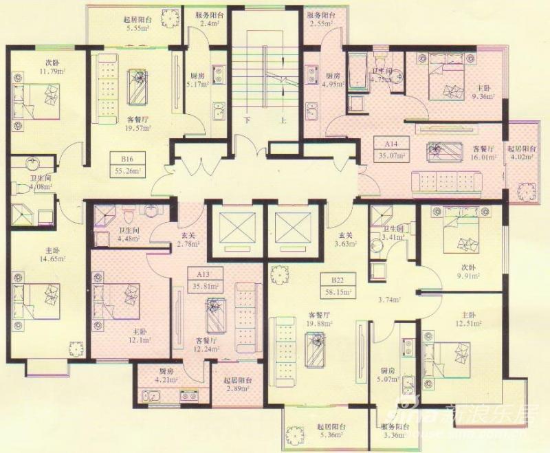 30日推出39号楼高层住宅,面积在35-58平方米之间  高清图片