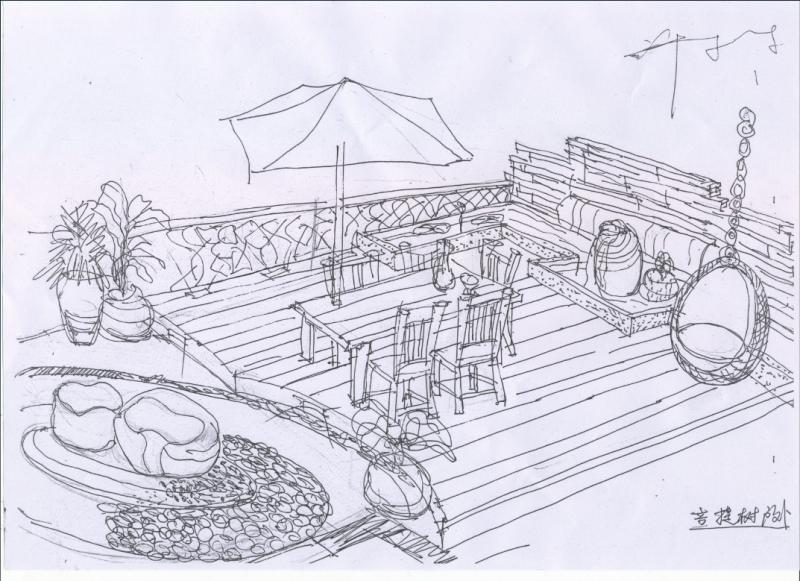 菩提树业主户外手绘图