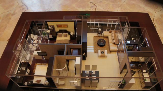 为a1户型90方边套和a2户型90方中间套,均为欧式装修风格的两房户型.图片
