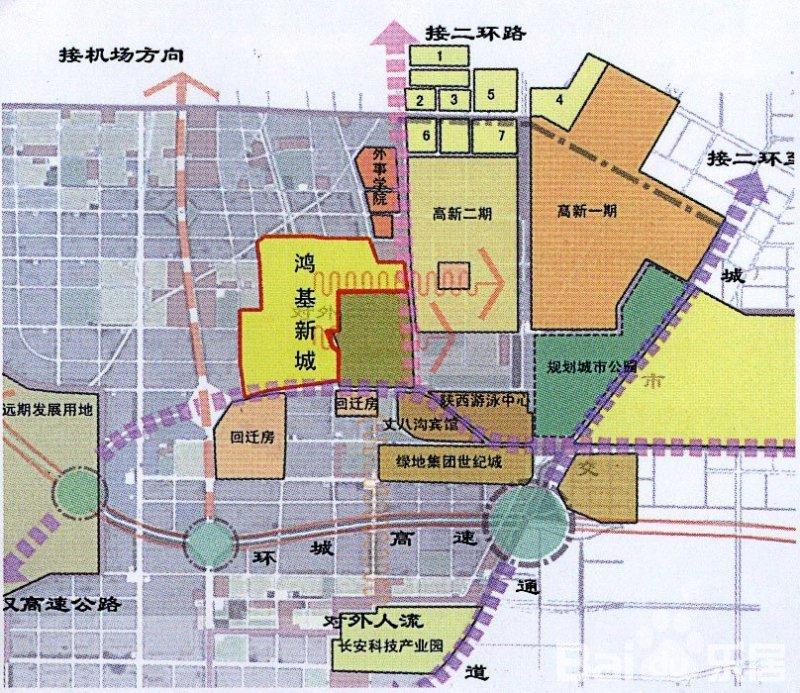 西安空港新城规划图 大空港新城规划图 遵义空港新城规划图