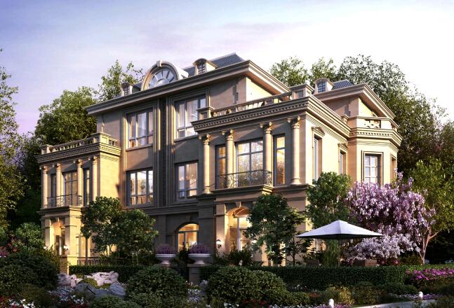 原味法式宫殿建筑,七重立体园林,中央水系贯通南北,处处渗透生活品味图片