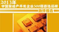 2013年中国房地产开发企业500强首选品牌测评研究报告